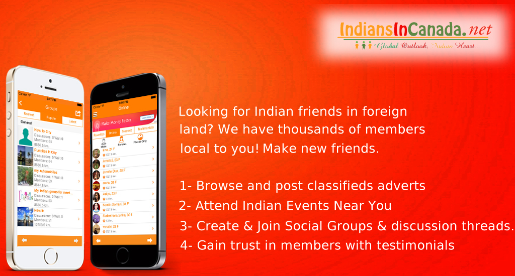 IndiansInCA – #1 Live Chat Events Free Classifieds