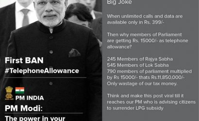 Why members of Indian parliament are getting Rs.15000/- as telephone allowance?