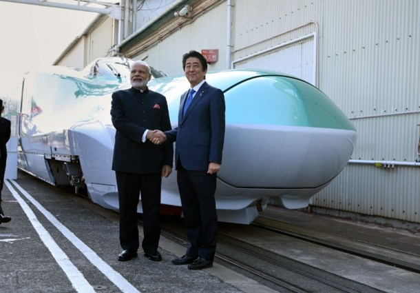 Narendra Modi, Shinzo Abe get India's first bullet train going as ties deepen